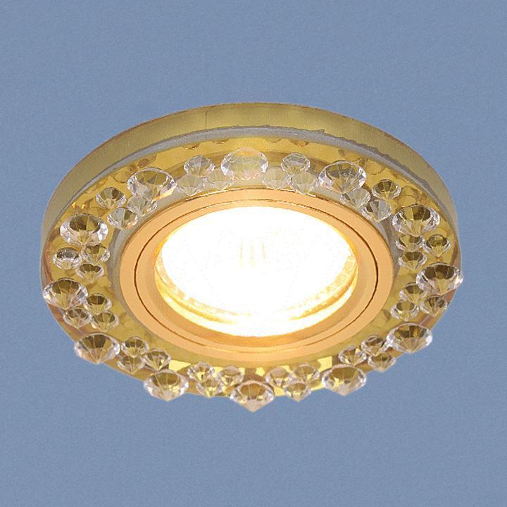 Встраиваемый светильник Elektrostandard 8260 MR16 YL/GD зеркальный/золото 4690389056697 встраиваемый светильник elektrostandard 6037 mr16 yl gd зеркальный золото 4690389060670