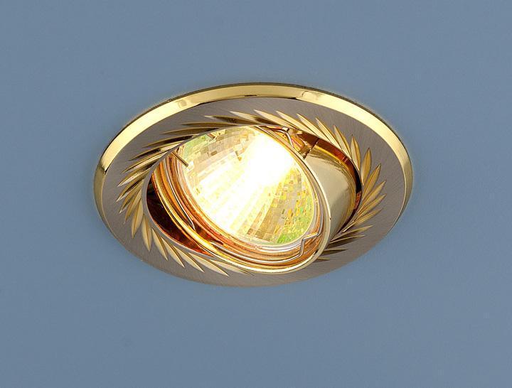 Встраиваемый светильник Elektrostandard 704 CX MR16 SN/GD сатин никель/золото 4607138143669 встраиваемый светильник elektrostandard 635 mr16 sng сатин никель золото 4690389010996