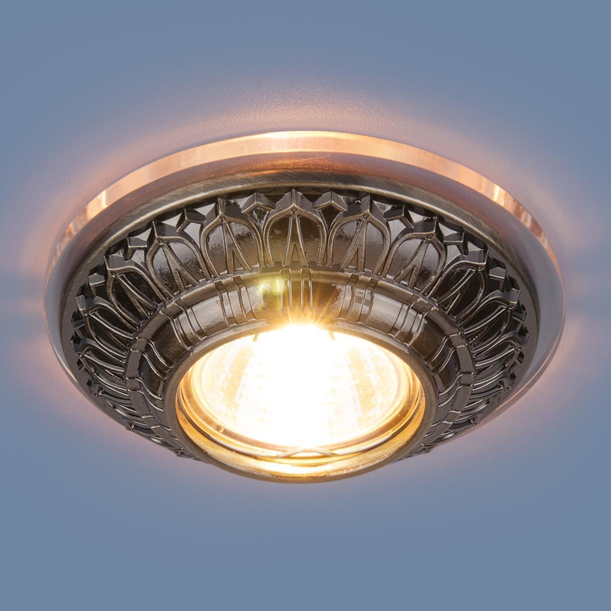 Фото - Встраиваемый светильник Elektrostandard 6024 MR16 SB бронза 4690389056635 cветильник галогенный de fran встраиваемый 1х50вт mr16 ip20 зел античное золото