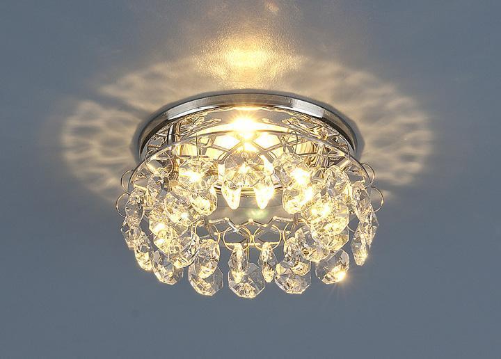 Фото - Встраиваемый светильник 7070 MR16 СH/CL хром/прозрачный 4607176197327 cветильник галогенный de fran встраиваемый 1х50вт mr16 ip20 зел античное золото