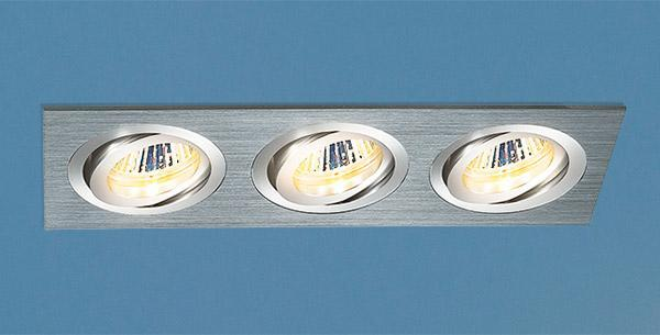 Фото - Встраиваемый светильник Elektrostandard 1011/3 MR16 CH хром 4690389055843 cветильник галогенный de fran встраиваемый 1х50вт mr16 ip20 зел античное золото