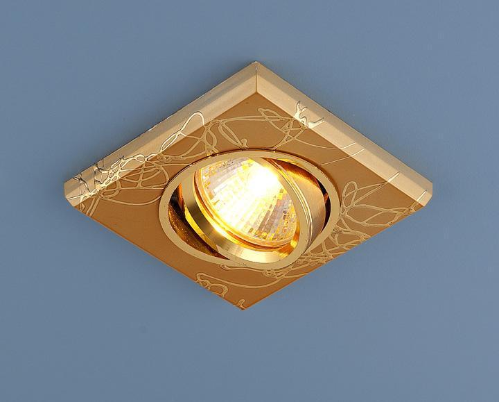 Встраиваемый светильник Elektrostandard 2080 MR16 GD золото 4690389002144 светильник встраиваемый акцент 16001ba жемчужное золото золото