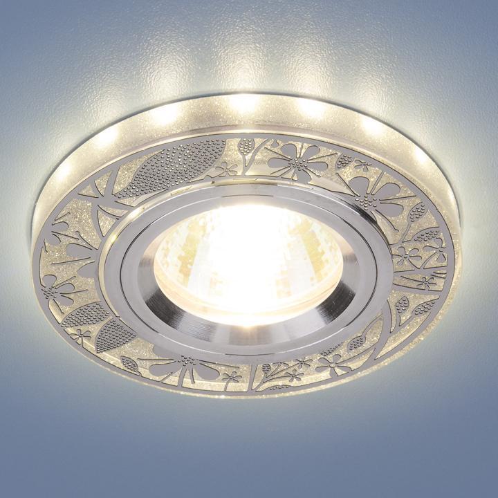 Фото - Встраиваемый светильник Elektrostandard 8096 MR16 SL серебро 4690389066450 cветильник галогенный de fran встраиваемый 1х50вт mr16 ip20 зел античное золото