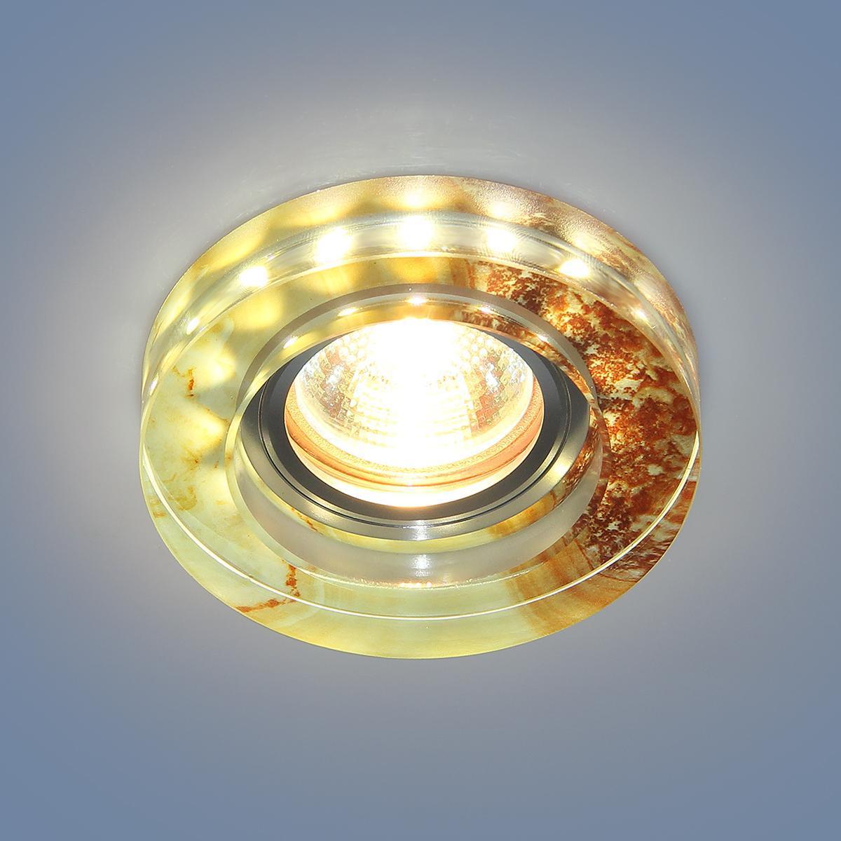 Фото - Встраиваемый светильник Elektrostandard 2190 MR16 YL желто-терракотовый 4690389083228 cветильник галогенный de fran встраиваемый 1х50вт mr16 ip20 зел античное золото