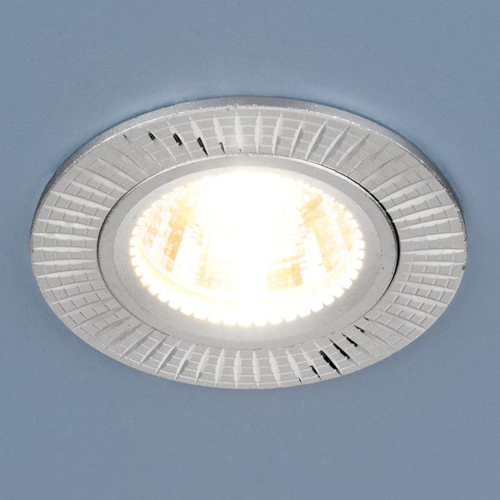 Фото - Встраиваемый светильник Elektrostandard 2003 MR16 SL серебро 4690389060458 cветильник галогенный de fran встраиваемый 1х50вт mr16 ip20 зел античное золото