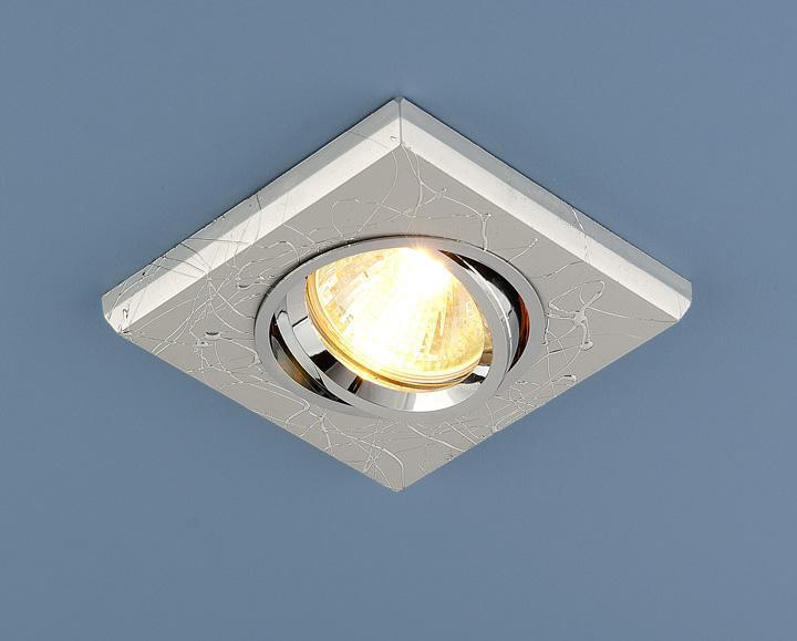Фото - Встраиваемый светильник Elektrostandard 2080 MR16 SL серебро 4690389060991 cветильник галогенный de fran встраиваемый 1х50вт mr16 ip20 зел античное золото