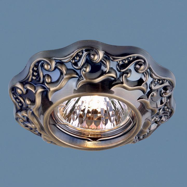 Фото - Встраиваемый светильник Elektrostandard 7218 MR16 GAB бронза 4690389060397 cветильник галогенный de fran встраиваемый 1х50вт mr16 ip20 зел античное золото