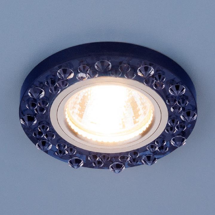 Встраиваемый светильник Elektrostandard 8260 MR16 SP/CH сапфир/хром 4690389057410 встраиваемый светильник elektrostandard 8260 mr16 sp ch сапфир хром 4690389057410