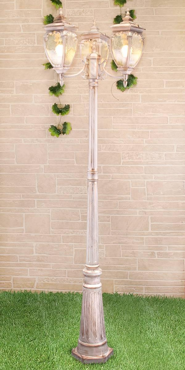 Садово-парковый светильник Elektrostandard Andromeda F/3 GLYF-8024F/3 белое золото 4690389082405 садово парковый светильник elektrostandard diadema f 3 glyf 8046f 3 белое золото 4690389082504