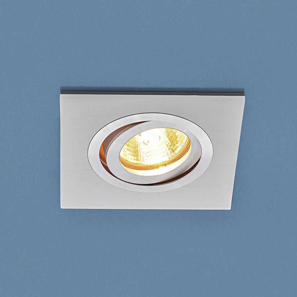 Встраиваемый светильник Elektrostandart 1051/1 WH белый 4690389083679 встраиваемый светильник elektrostandart ссп встраиваемый 21w 1500lm 128см 6500к ссп 01 21w