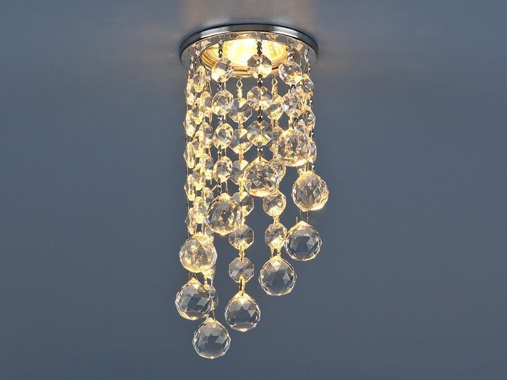 Фото - Встраиваемый светильник Elektrostandard 205C-C MR16 CH/CL хром/прозрачный 4690389029486 cветильник галогенный de fran встраиваемый 1х50вт mr16 ip20 зел античное золото