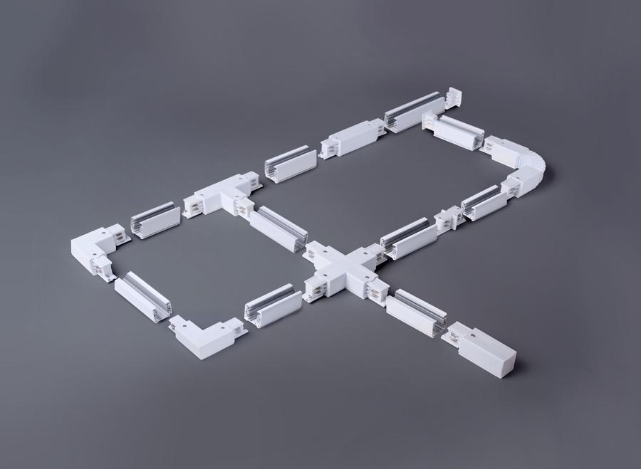 Коннектор угловой Elektrostandard TRC-1-3-L-WH 4690389112478 коннектор elektrostandart trc 1 1 l wh коннектор угловой для однофазного шинопровода белый