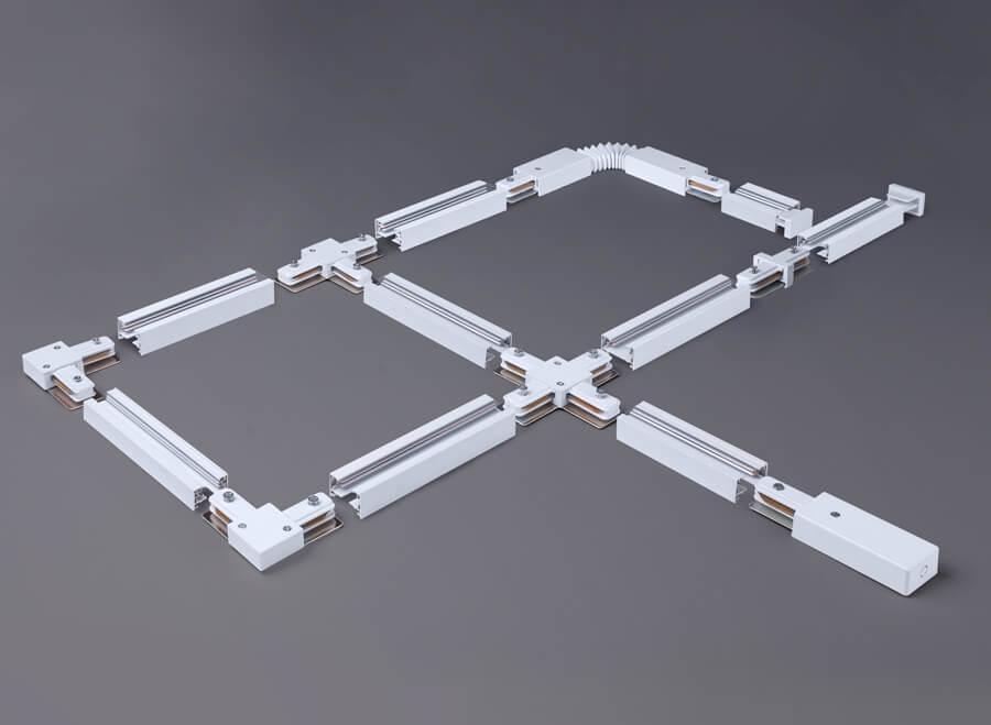 Коннектор угловой Elektrostandard TRC-1-1-L-WH 4690389112355 коннектор elektrostandart trc 1 1 l wh коннектор угловой для однофазного шинопровода белый