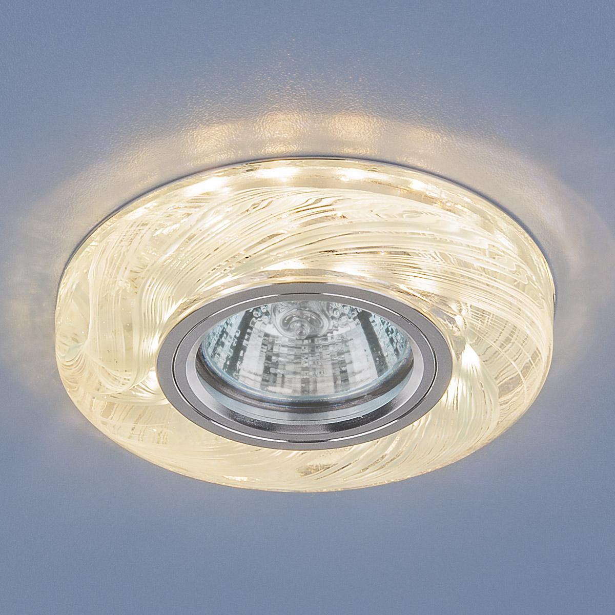 Встраиваемый светильник Elektrostandard 2191 MR16 CL/BL прозрачный/голубой 4690389096112 встраиваемый светильник 2191 mr16 cl gr прозрачный зеленый elektrostandard 1251036