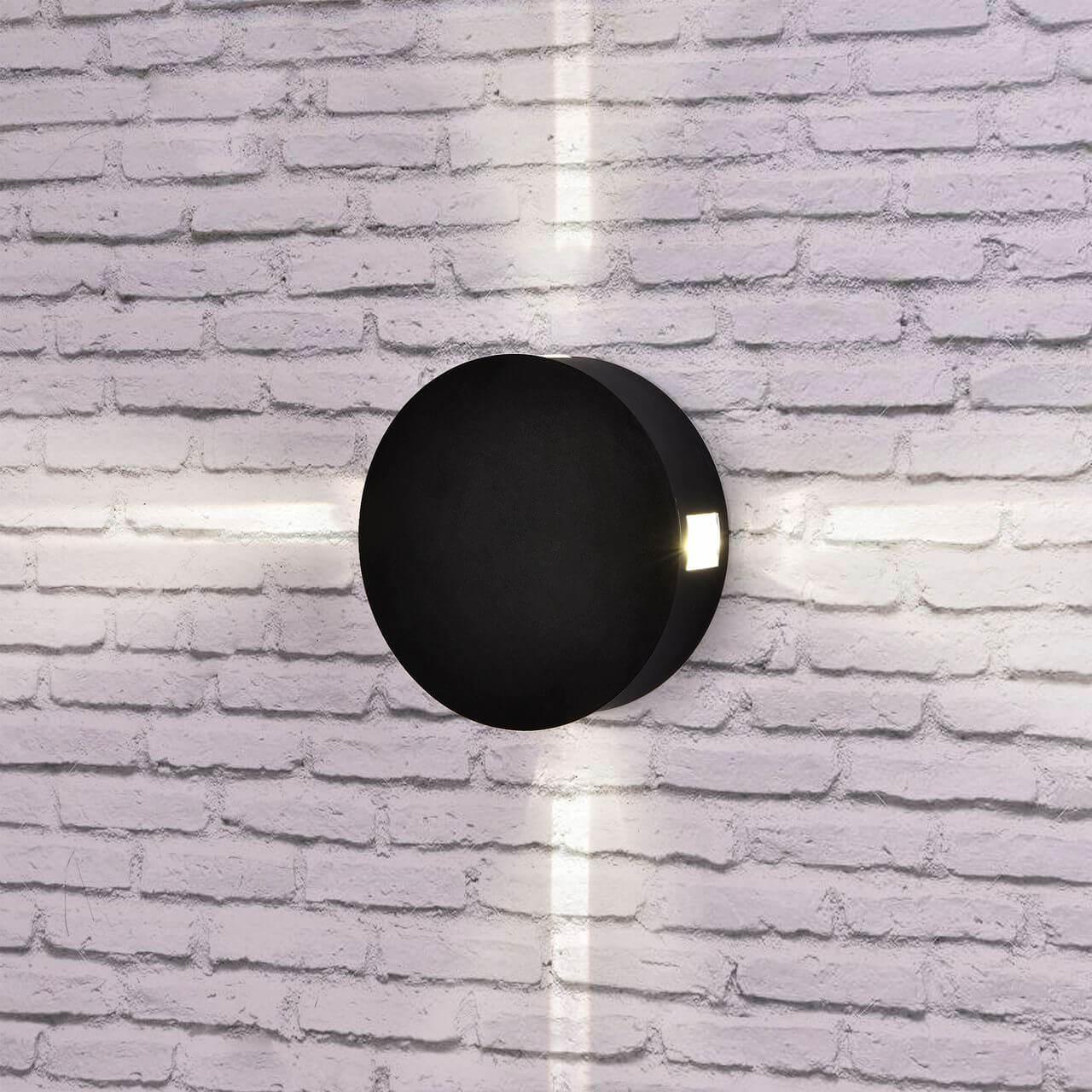 Уличный настенный светодиодный светильник Elektrostandard 1545 Techno LED Beam черный 4690389121654 akd car styling angel eye fog lamp for mitsubishi pajero led fog light led drl 90mm high beam low beam lighting accessories