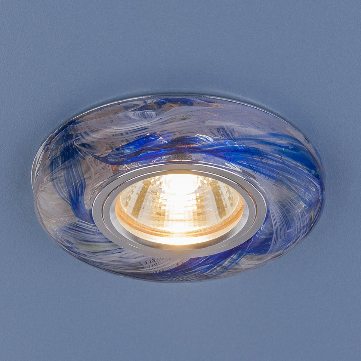 Встраиваемый светильник Elektrostandard 2191 MR16 CL/DBL прозрачный/синий 4690389096105 встраиваемый светильник 2191 mr16 cl gr прозрачный зеленый elektrostandard 1251036