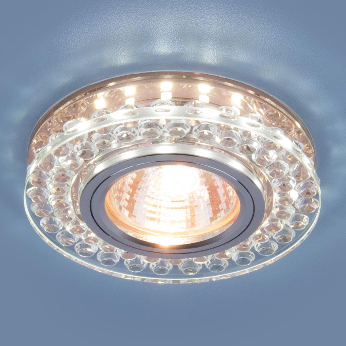 Фото - Встраиваемый светильник Elektrostandard 8381 MR16 CL/GC прозрачный/тонированный 4690389098338 cветильник галогенный de fran встраиваемый 1х50вт mr16 ip20 зел античное золото