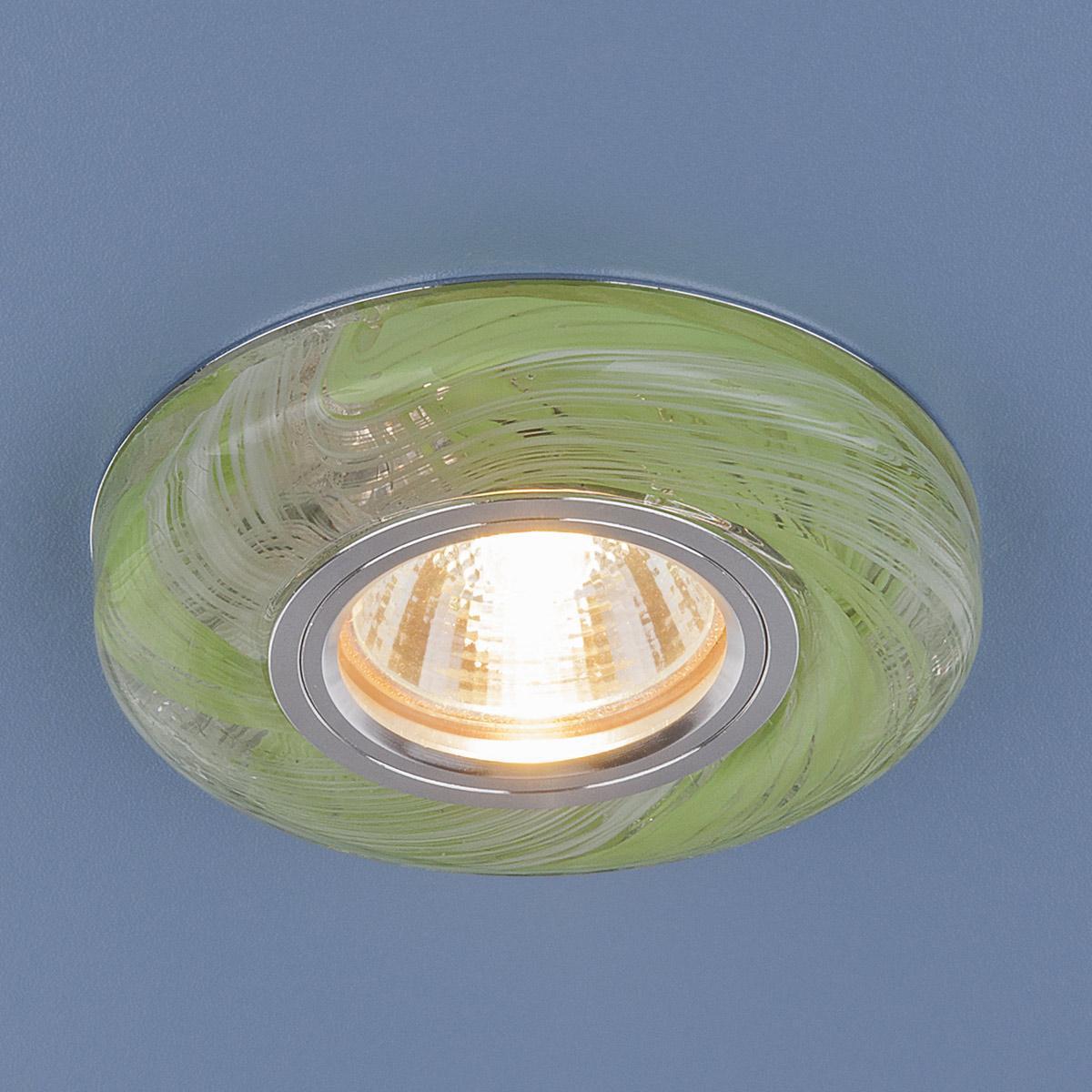 Встраиваемый светильник Elektrostandard 2191 MR16 CL/GR прозрачный/зеленый 4690389096136 встраиваемый светильник 2191 mr16 cl gr прозрачный зеленый elektrostandard 1251036