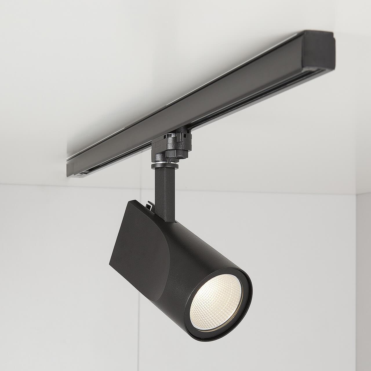 Трековый светодиодный светильник Elektrostandard Vista черный 32W 4200K 4690389111518 трековый светодиодный светильник elektrostandard accord 30w 4200k 4690389112256