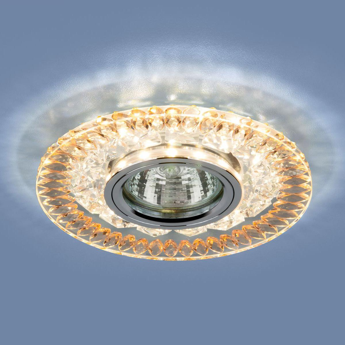 Встраиваемый светильник Elektrostandard 2198 MR16 CL/GD прозрачный/золото 4690389101038 встраиваемый светильник elektrostandard 1063 gx53 gd cl золото прозрачный 4690389075674