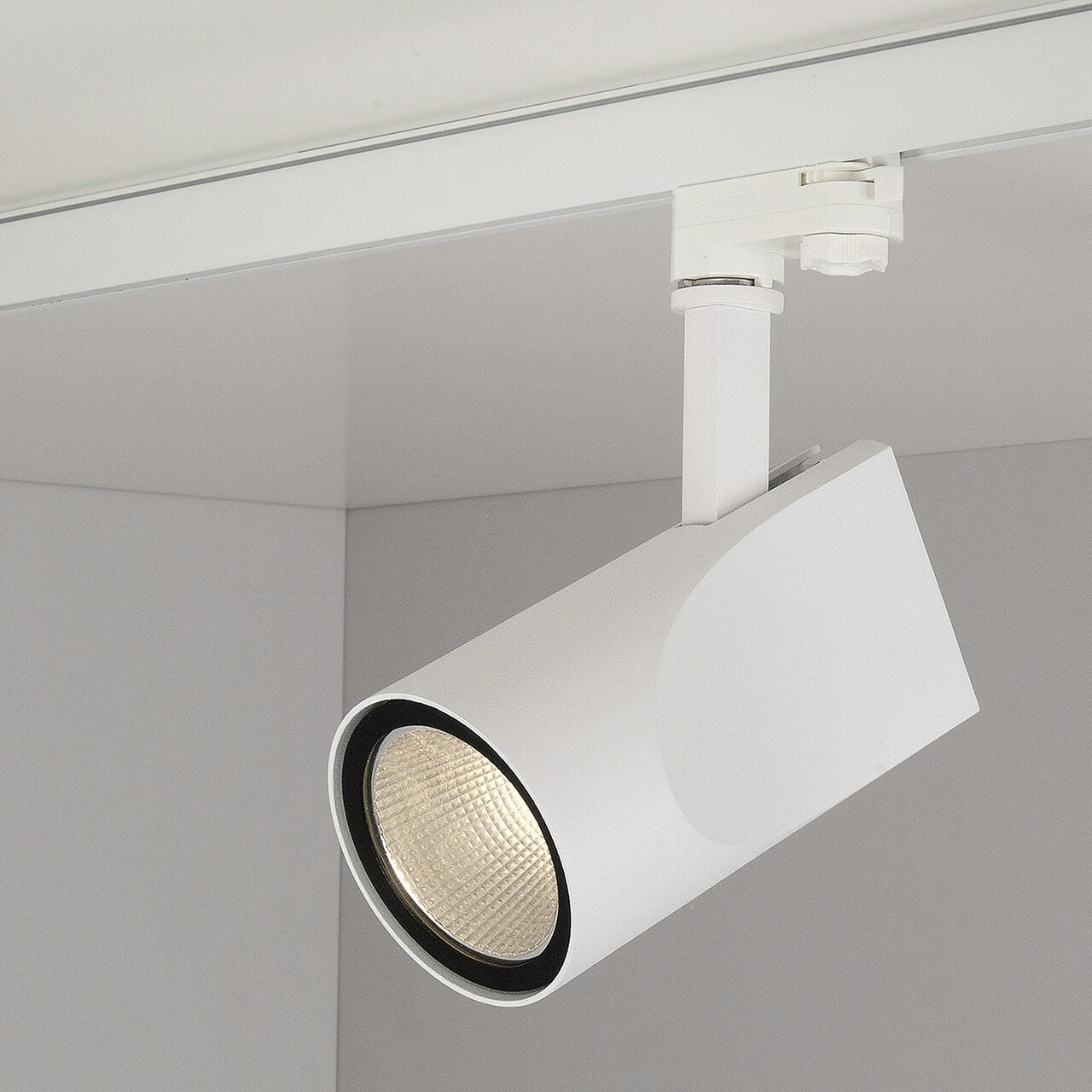 Трековый светодиодный светильник Elektrostandard Vista белый 32W 3300K 4690389111488 трековый светодиодный светильник elektrostandard accord 20w 3300k 4690389112188