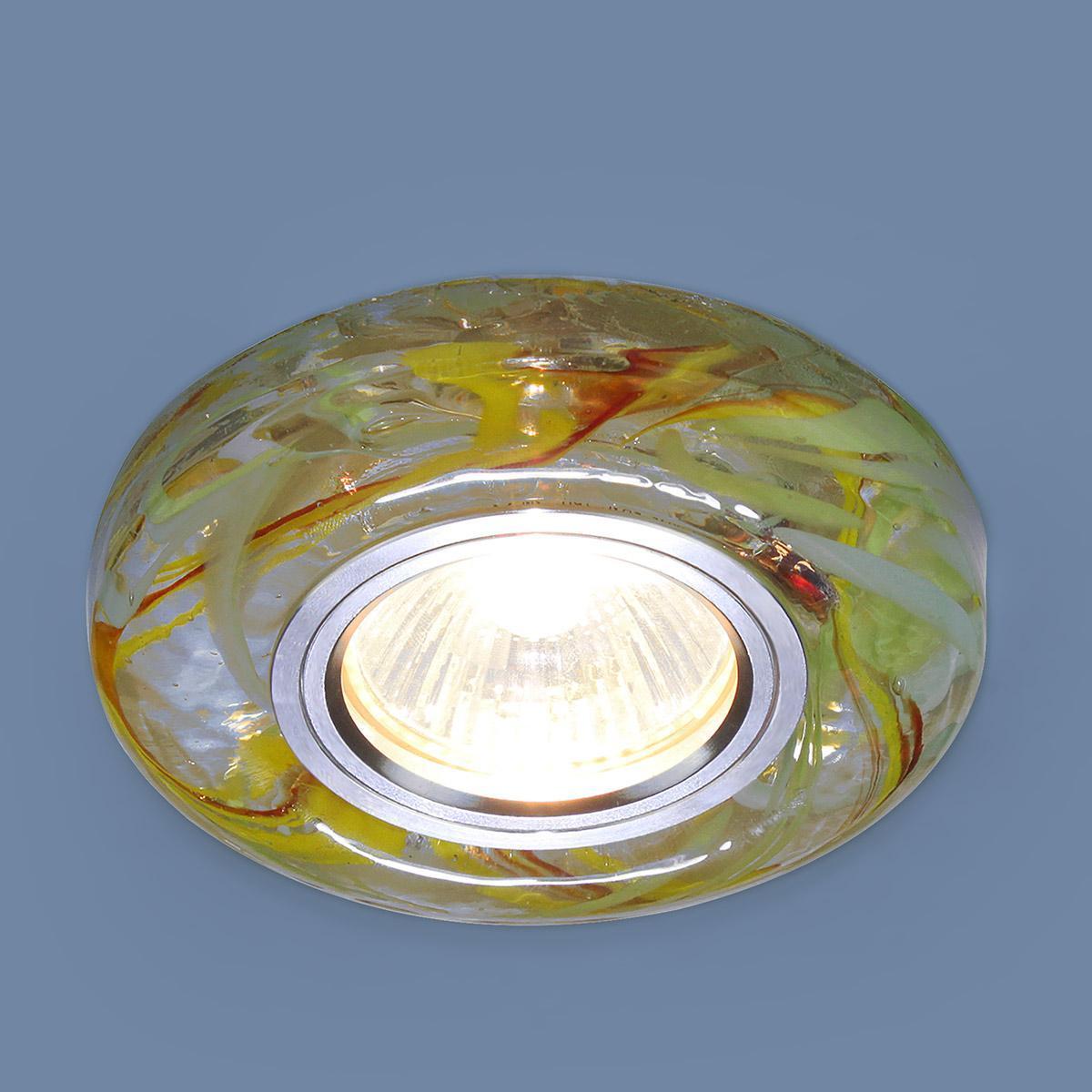 Фото - Встраиваемый светильник Elektrostandard 2191 MR16 CL/YL/GR прозрачный/желтый/зеленый 4690389096129 cветильник галогенный de fran встраиваемый 1х50вт mr16 ip20 зел античное золото
