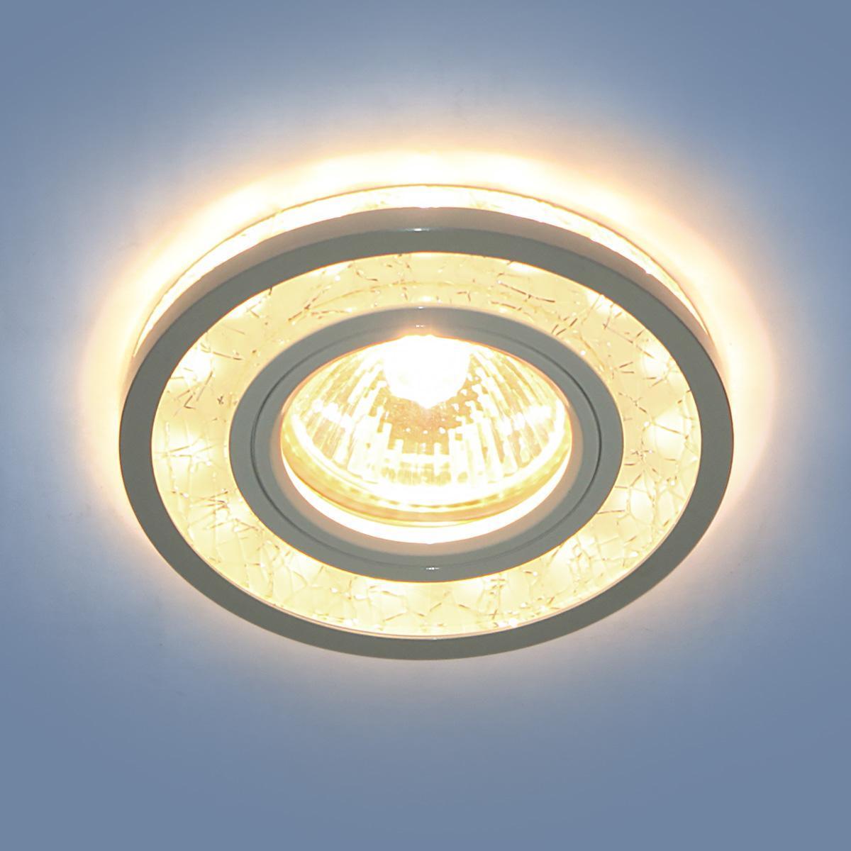 Фото - Встраиваемый светильник Elektrostandard 7020 MR16 WH/SL белый/серебро 4690389099335 cветильник галогенный de fran встраиваемый 1х50вт mr16 ip20 зел античное золото