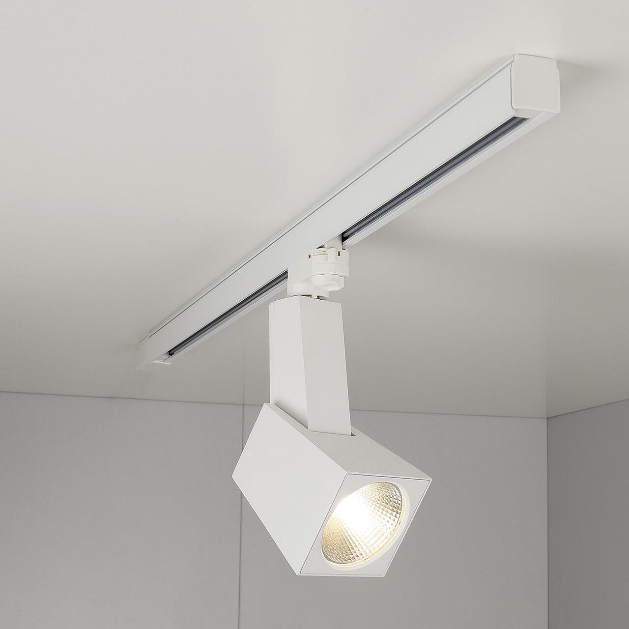 Трековый светодиодный светильник Elektrostandard Perfect белый 38W 4200K 4690389111433 трековый светодиодный светильник elektrostandard perfect черный 38w 4200k 4690389111471
