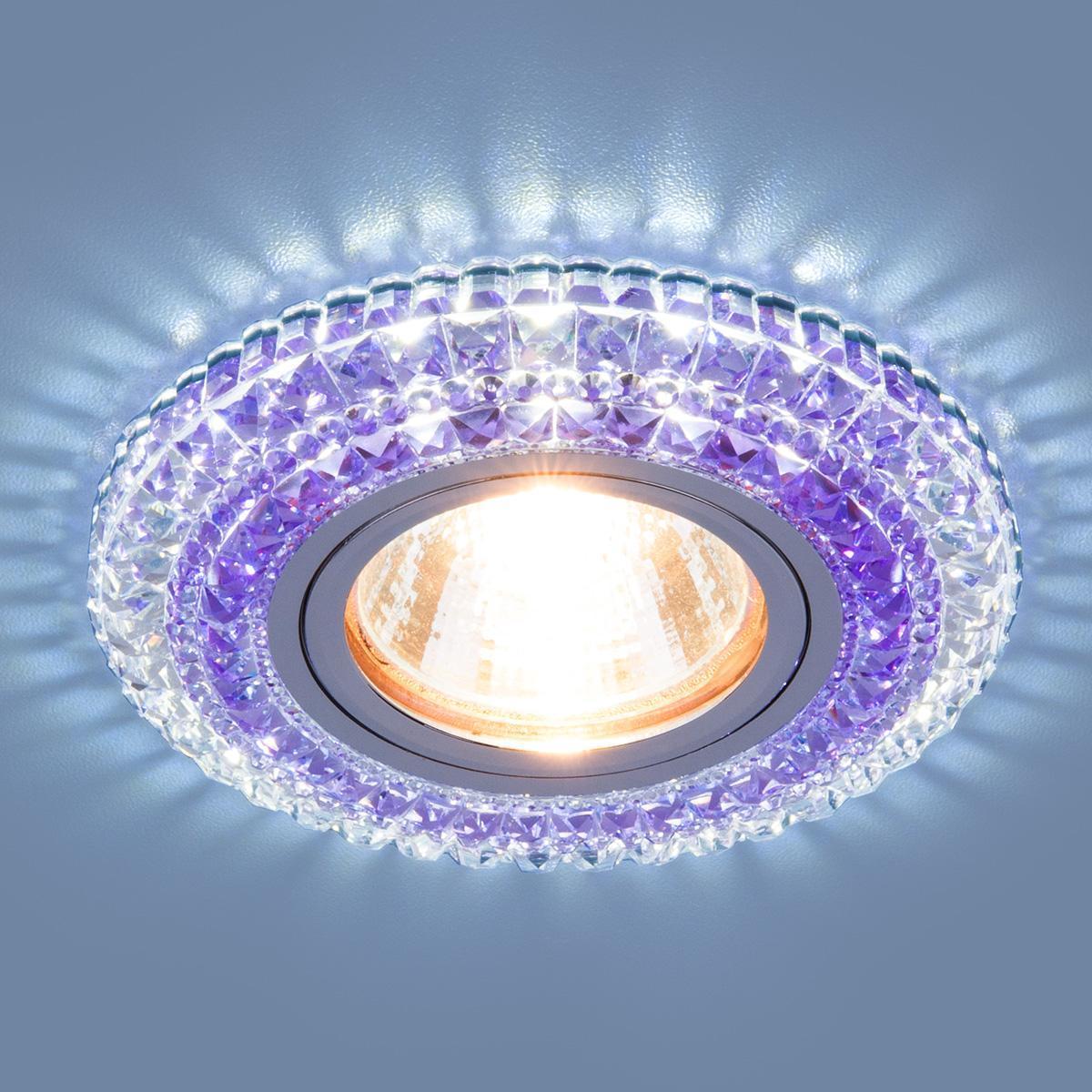 Фото - Встраиваемый светильник Elektrostandard 2193 MR16 CL/PU прозрачный/фиолетовый 4690389098895 cветильник галогенный de fran встраиваемый 1х50вт mr16 ip20 зел античное золото