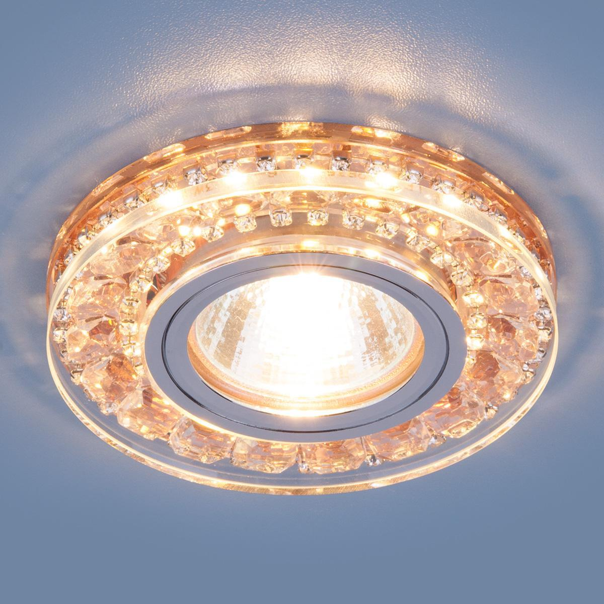 Фото - Встраиваемый светильник Elektrostandard 2192 MR16 GD шампань 4690389098857 cветильник галогенный de fran встраиваемый 1х50вт mr16 ip20 зел античное золото
