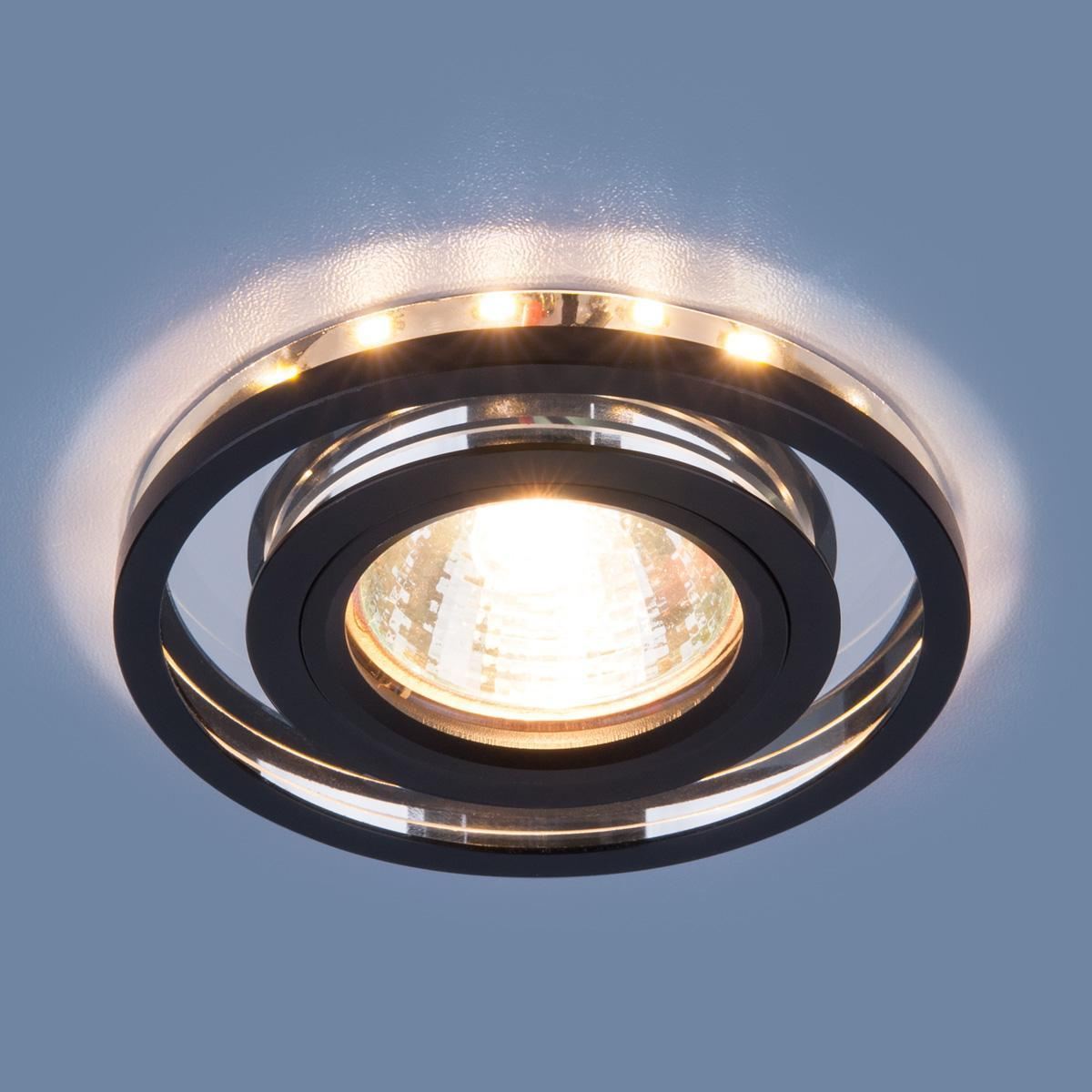 Встраиваемый светильник Elektrostandard 7021 MR16 SL/BK зеркальный/черный 4690389099328