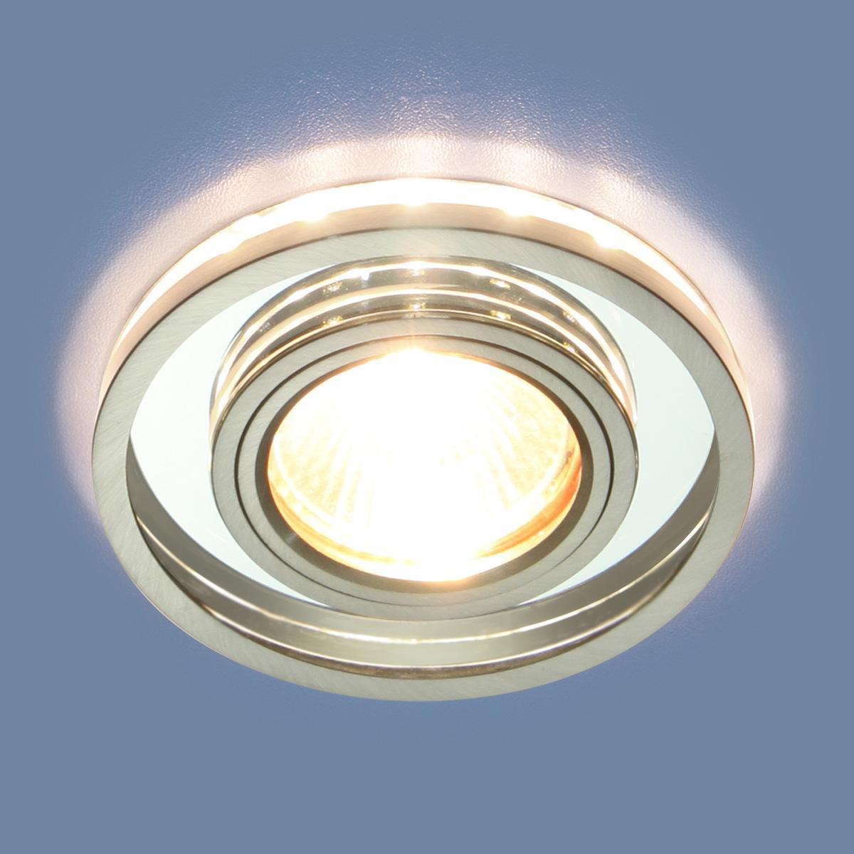 Фото - Встраиваемый светильник Elektrostandard 7021 MR16 SL/CH зеркальный/хром 4690389099366 cветильник галогенный de fran встраиваемый 1х50вт mr16 ip20 зел античное золото