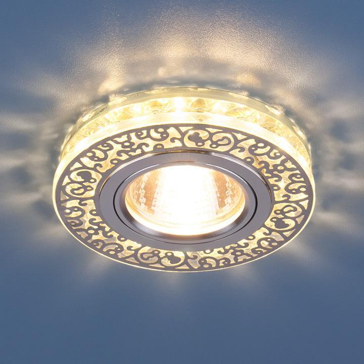 Фото - Встраиваемый светильник Elektrostandard 6034 MR16 CH/CL хром/прозрачный 4690389055713 cветильник галогенный de fran встраиваемый 1х50вт mr16 ip20 зел античное золото