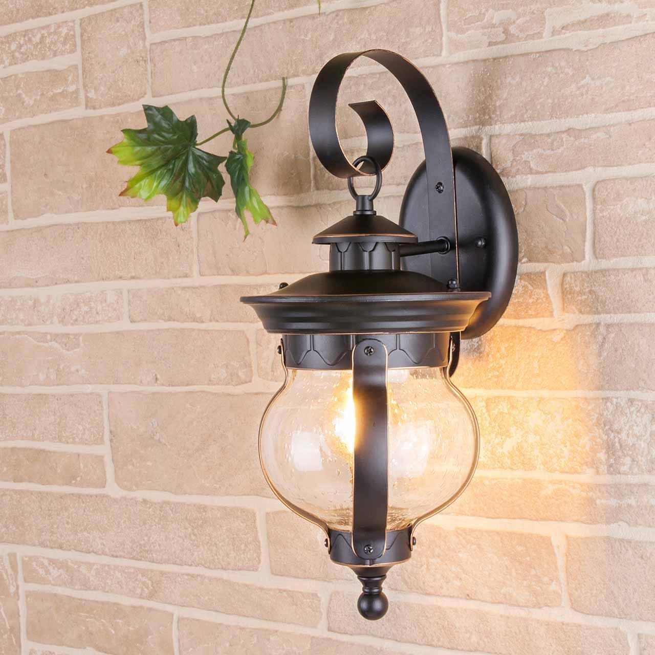 Уличный настенный светильник Elektrostandard Barrel D черное золото GL 1025D 4690389122040 elektrostandard настенный светильник elektrostandard cassiopeya d черное золото 4690389017315
