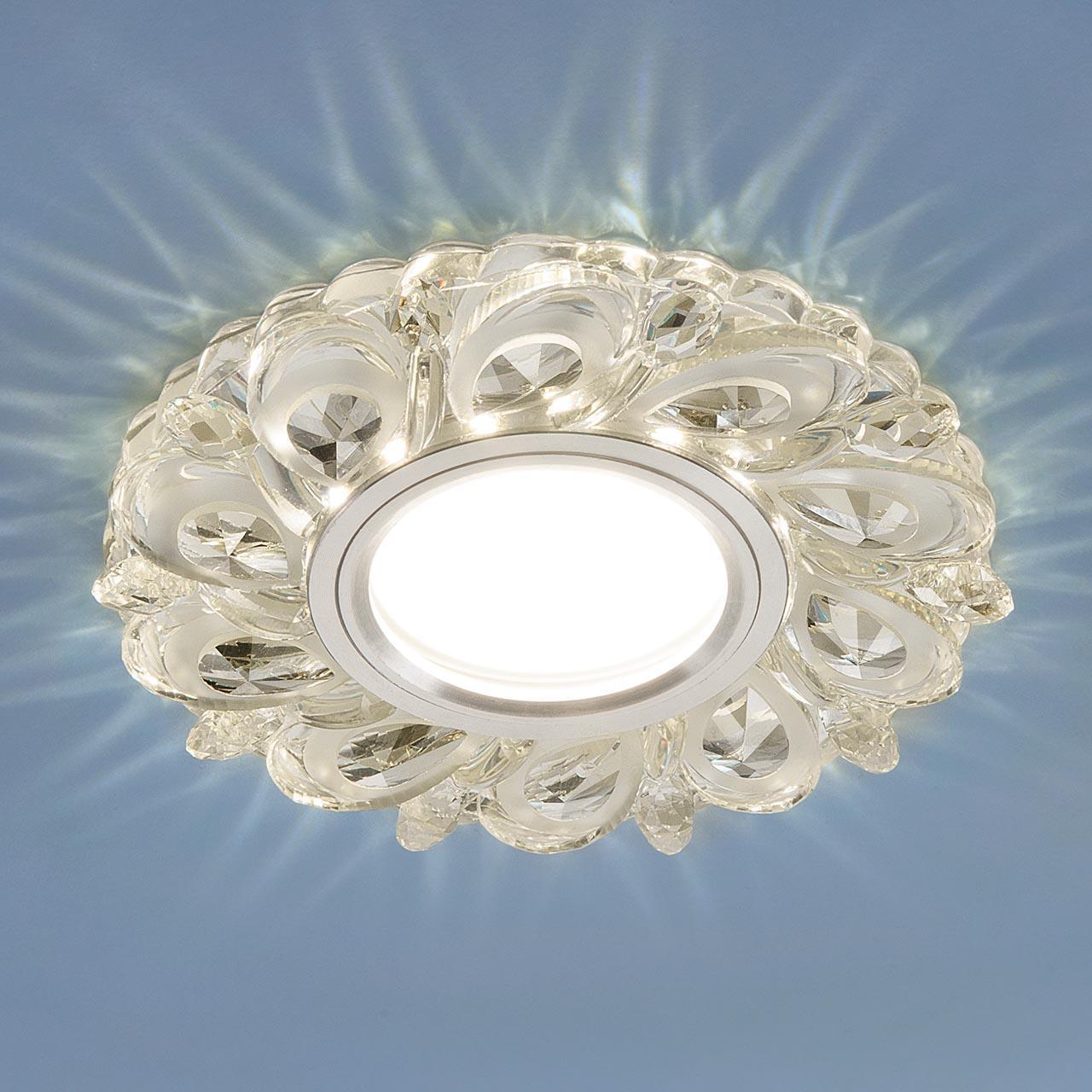 Фото - Встраиваемый светильник Elektrostandard 2219 MR16 CL прозрачный 4690389129551 cветильник галогенный de fran встраиваемый 1х50вт mr16 ip20 зел античное золото