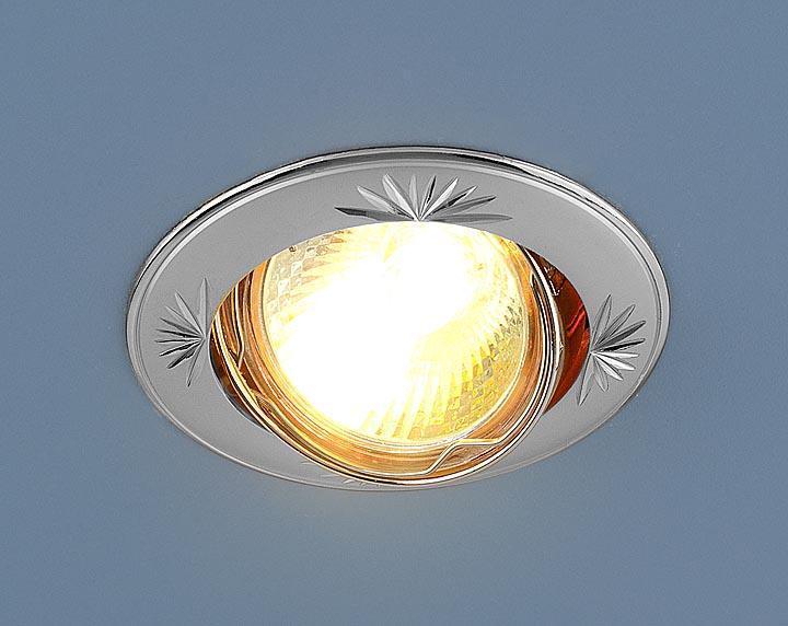 Встраиваемый светильник Elektrostandard 104A MR16 PS/N перламутровое серебро/никель 4690389060236 штатив dicom tv300 n серебро