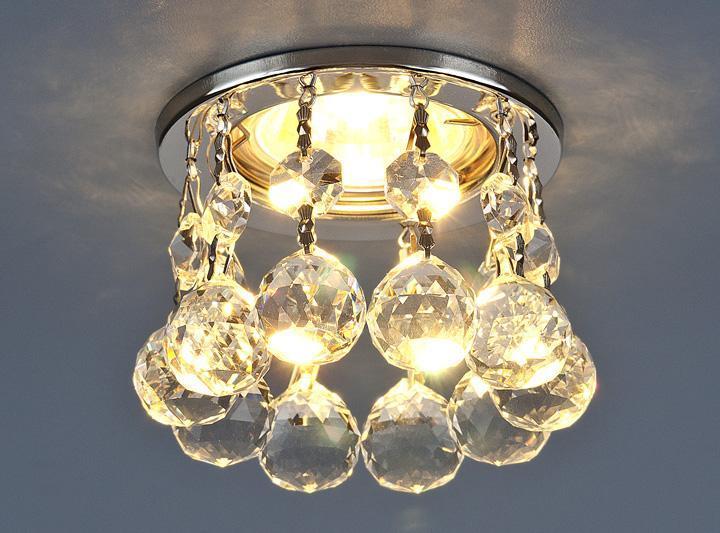 Фото - Встраиваемый светильник Elektrostandard 2051 MR16 CH/CL хром/прозрачный 4690389029400 cветильник галогенный de fran встраиваемый 1х50вт mr16 ip20 зел античное золото