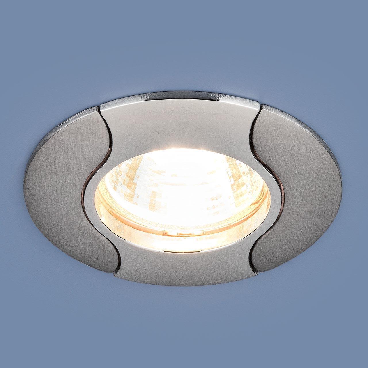 Фото - Встраиваемый светильник Elektrostandard 7006 MR16 CH/N хром/никель 4690389126512 cветильник галогенный de fran встраиваемый 1х50вт mr16 ip20 зел античное золото