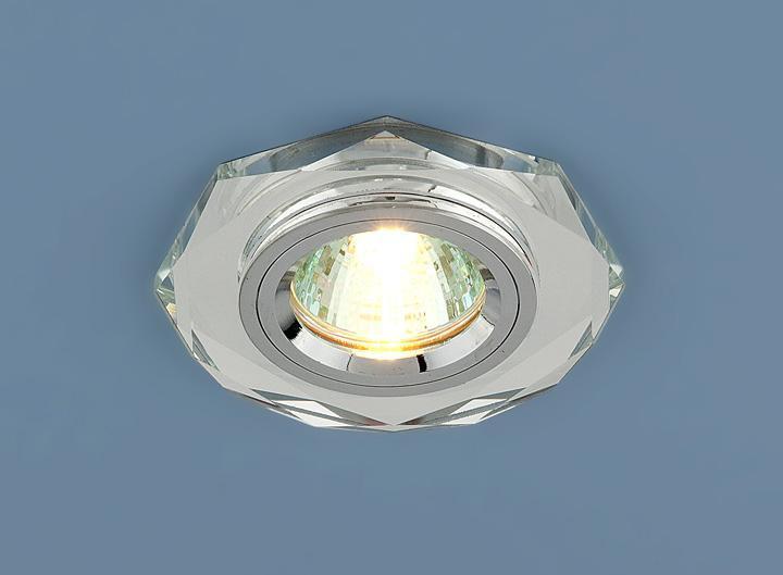 Фото - Встраиваемый светильник Elektrostandard 8020 MR16 SL зеркальный/серебро 4690389056390 cветильник галогенный de fran встраиваемый 1х50вт mr16 ip20 зел античное золото