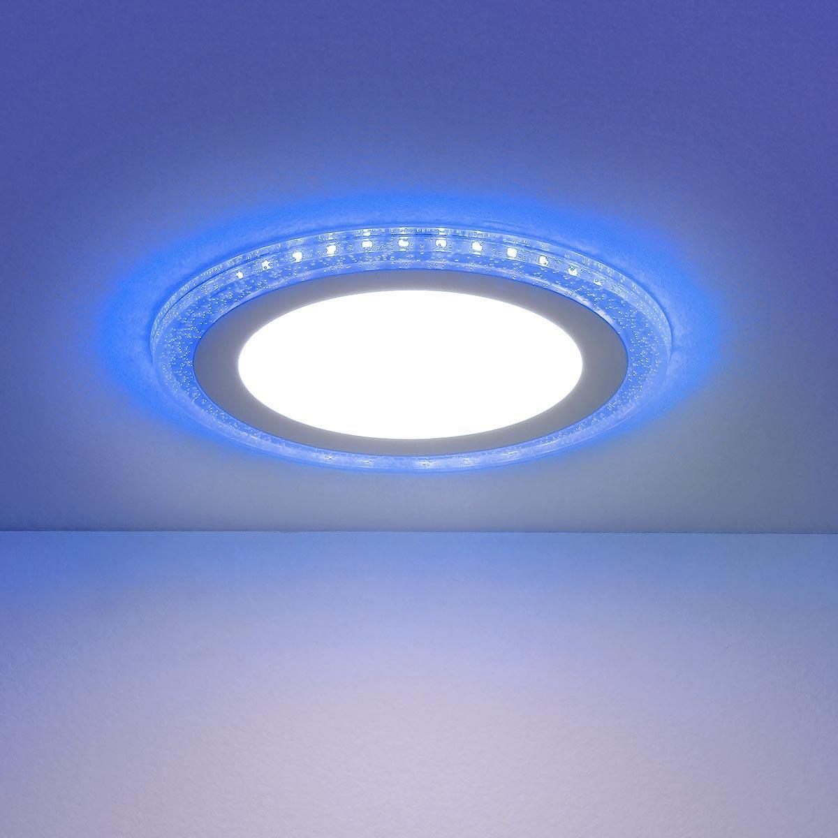 Встраиваемый светодиодный светильник Elektrostandard DLR024 7+3W 4200K Blue 4690389107092 цена