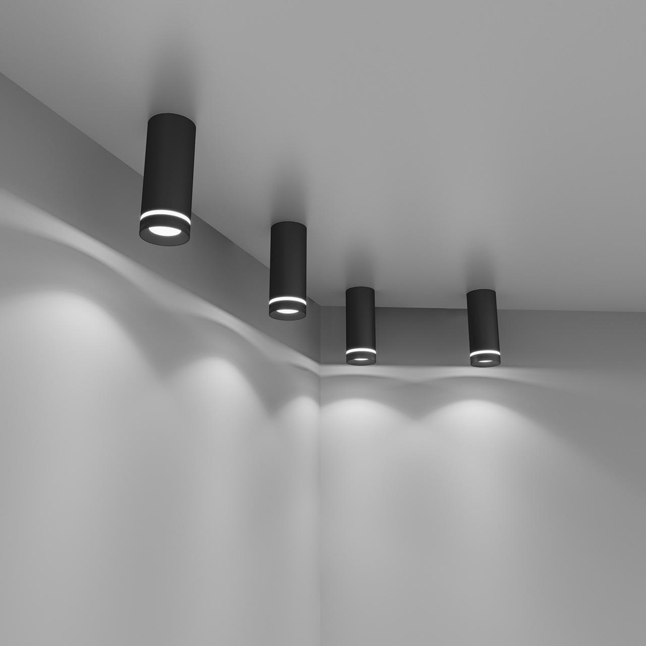 Потолочный светодиодный светильник Elektrostandard DLR022 12W 4200K черный матовый 4690389102967 цена