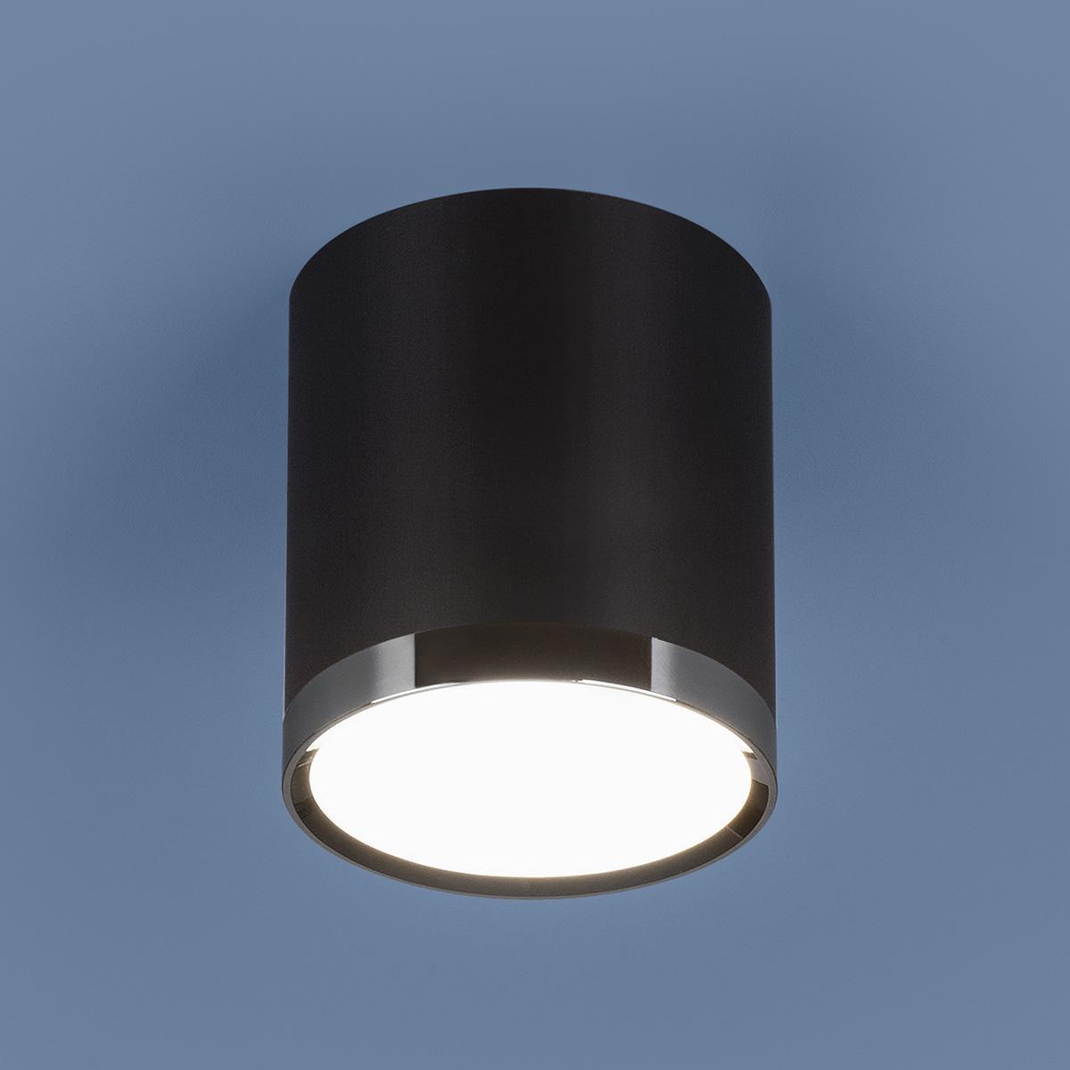 Потолочный светодиодный светильник Elektrostandard DLR024 6W 4200K черный матовый 4690389110375 цена