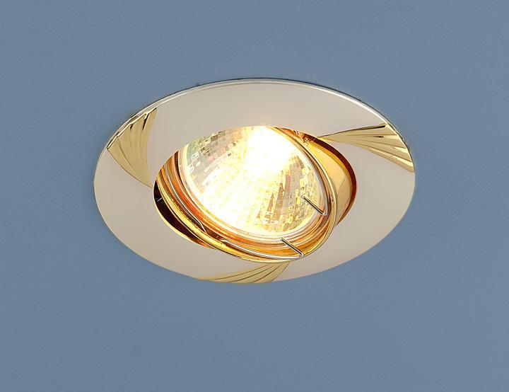 Встраиваемый светильник Elektrostandard 8004 MR16 PS/GD перламутровое серебро/золото 4690389063329 светильник встраиваемый акцент 113aa1 жемчужное серебро золото