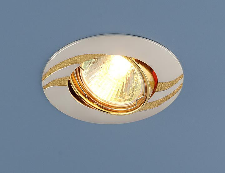 Встраиваемый светильник Elektrostandard 8012 MR16 PS/N перламутровое серебро/золото 4690389067129 светильник встраиваемый акцент 113aa1 жемчужное серебро золото