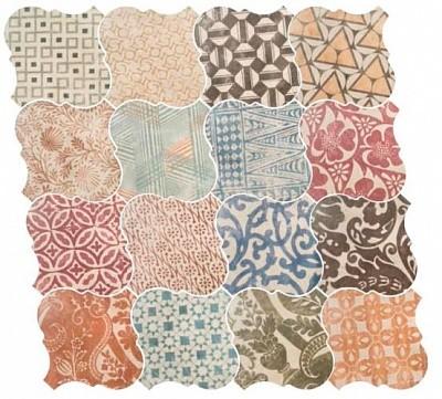 Декор Equipe Curvytile Cotto Patchwork Ceramic 26,5х26,5 (21780) random damask patchwork ceramic tile sticker 1pc