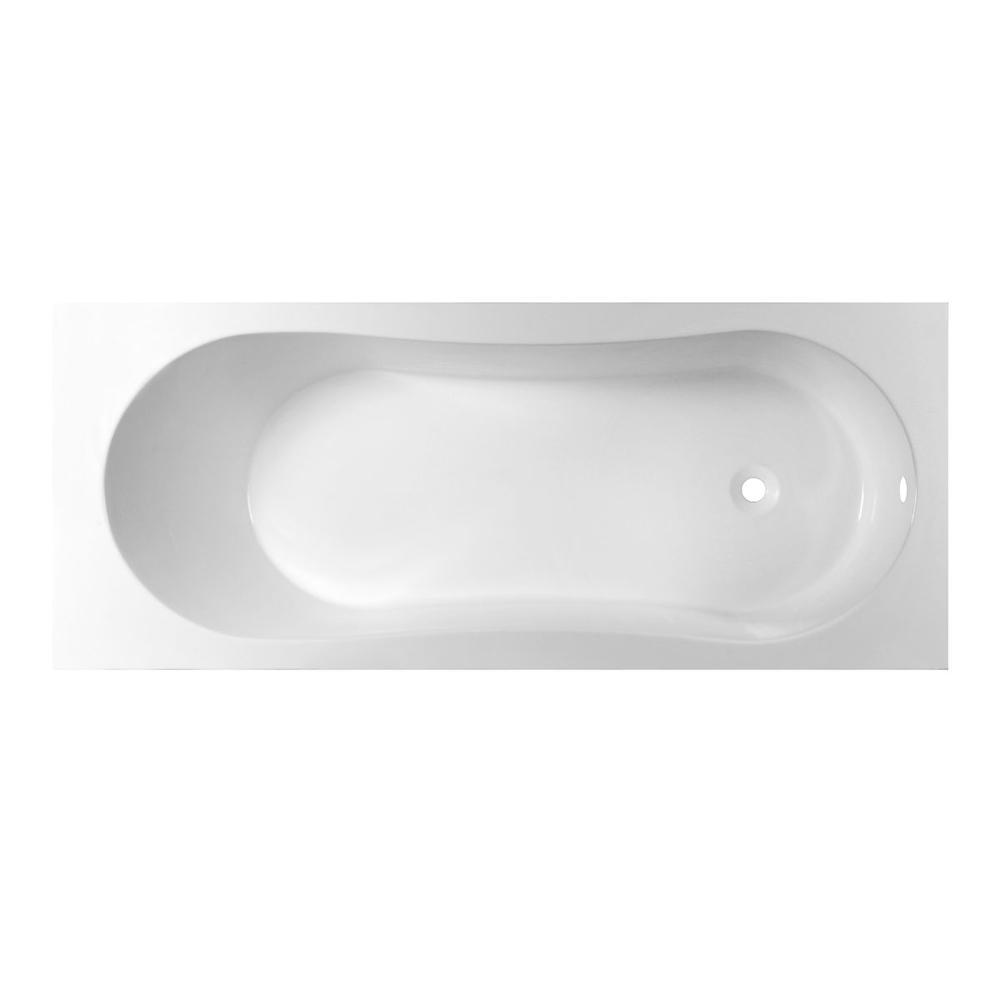 Ванна из литьевого мрамора Эстет Лаура белая ванна стальная optimo 1700х700 мм