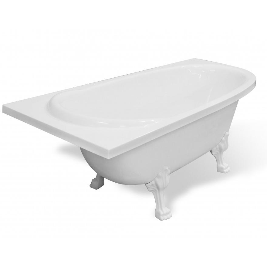 Ванна Эстет Венеция белая левая ванна эстет лаура белая