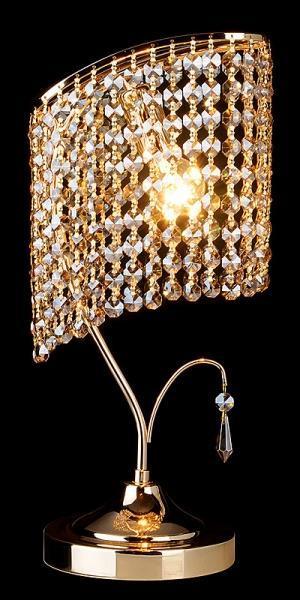 Настольная лампа Eurosvet 3122/1 золото Strotskis лампа настольная декоративная евросвет хрусталь 3122 1 золото strotskis