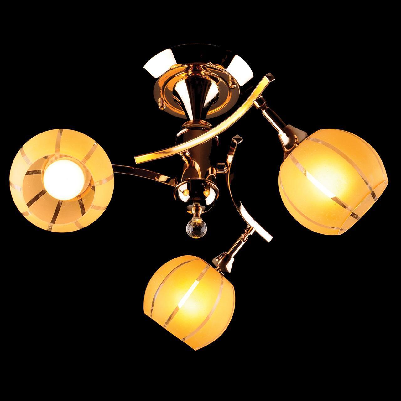 Люстра Eurosvet 3353/3 золото/желтый потолочная люстра потолочная eurosvet 3353 3 золото желтый