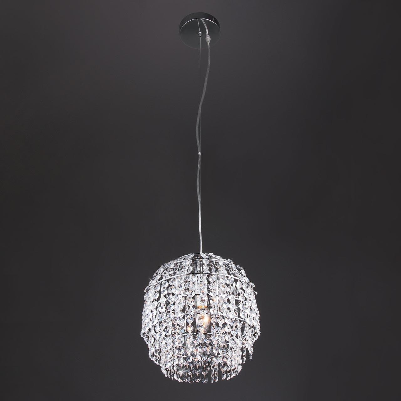 Подвесной светильник Eurosvet Oliver 10091/1 хром/прозрачный хрусталь Strotskis msk2541b 5962 9083801hxc